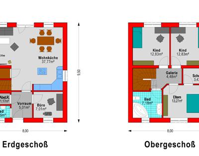 Flachdach Plan